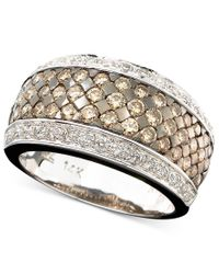 Le Vian | Metallic Chocolate And White Diamond Band Ring In 14k Gold Or 14k White Gold (1-5/8 Ct. T.w.) | Lyst