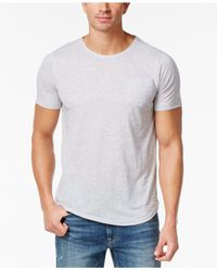Sean John - Gray Men's Relax Cotton Pocket T-shirt for Men - Lyst