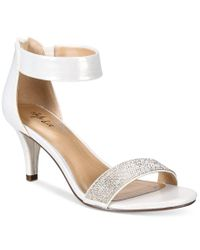 Style & Co. | Metallic Phillys Two-piece Evening Sandals, Only At Macy's | Lyst