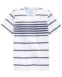 American Rag | White Men's Highlight Stripe V-neck T-shirt, Only At Macy's for Men | Lyst
