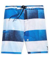 Hurley - Black Men's Kingsroad Light Stripe Boardshorts for Men - Lyst