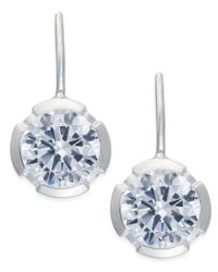 Thomas Sabo | Blue White Crystal Drop Earrings In Sterling Silver | Lyst