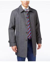 Tommy Hilfiger - Gray Men's Finn Grey Sharkskin Raincoat for Men - Lyst