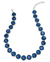 Lauren by Ralph Lauren | Blue Large Round Stone Necklace | Lyst