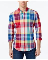 Tommy Hilfiger - Multicolor Men's Dean Large-plaid Long-sleeve Shirt for Men - Lyst