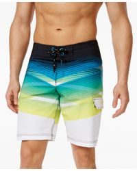 Speedo - Black Men's Scenic-print Crosscut Swim Trunks for Men - Lyst