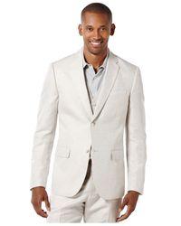 Perry Ellis | Natural Men's Linen Suit Jacket for Men | Lyst