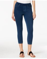 Style & Co. | Blue Medium Wash Capri Jeggings, Only At Macy's | Lyst