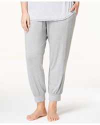 DKNY | Gray Plus Size Jogger Pajama Pants | Lyst