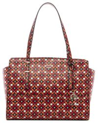 Guess - Red Devyn Large Satchel - Lyst