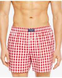 Polo Ralph Lauren - Red Men's Printed Woven Boxers for Men - Lyst