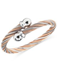 Charriol | Metallic Women's Celtic Two-tone Pvd Stainless Steel Cable Bangle Bracelet | Lyst