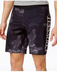 Reebok - Black Men's Printed Crossfit Shorts for Men - Lyst