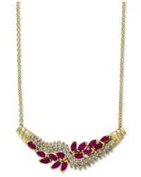 Effy Collection | Red Effy Ruby (1-5/8 Ct. T.w.) And Diamond (5/8 Ct. T.w.) Collar Necklace In 14k Gold | Lyst