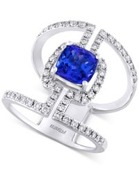 Effy Collection | Metallic Tanzanite (1-5/8 Ct. T.w.) And Diamond (3/4 Ct. T.w.) Statement Ring In 14k White Gold | Lyst