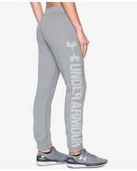 Under Armour | Gray Favorite Fleece Sweatpants | Lyst