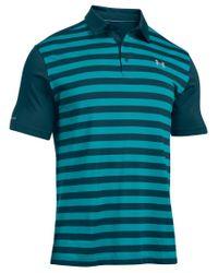 Under Armour | Blue Men's Coldblack Tempo Stripe Polo for Men | Lyst