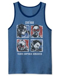 Jem - Natural Men's Team Captain America Graphic-print Tank for Men - Lyst