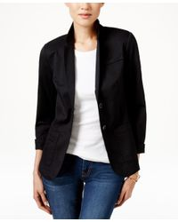 Tommy Hilfiger | Black Two-button Blazer, Only At Macy's | Lyst