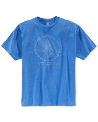 Volcom | Blue Men's Corpo Push Graphic-print Logo T-shirt for Men | Lyst
