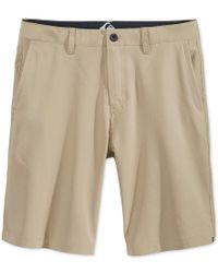 "Quiksilver | Natural Men's Everyday Solid Amphibian 21"" Shorts for Men 