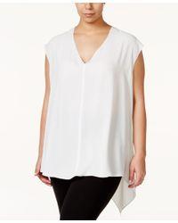 RACHEL Rachel Roy | White Curvy Trendy Plus Size Sydney High-low Blouse | Lyst