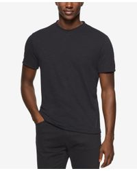 Calvin Klein Jeans | Black Men's Acid Washed V-neck T-shirt for Men | Lyst