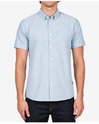 Volcom | Blue Men's Everett Short-sleeve Oxford Shirt for Men | Lyst