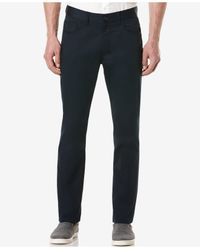 Perry Ellis | Blue Men's Big And Tall Five-pocket Sateen Stretch Pants for Men | Lyst