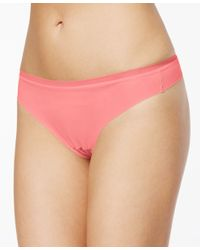 DKNY - Natural Downtown Cotton Thong Dk1028 - Lyst
