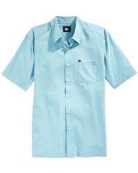 Quiksilver   Blue Men's Straight Short-sleeve Shirt for Men   Lyst