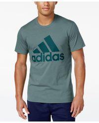 Adidas Originals - Green Men's Badge Of Sport Classic Logo T-shirt for Men - Lyst