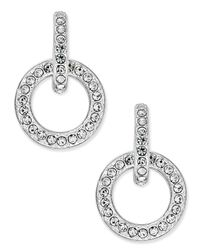 Danori | Metallic Silver-tone Pave Open Link Drop Earrings, Only At Macy's | Lyst