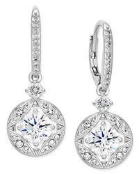 Danori   Metallic Silver-tone Crystal Drop Earrings, Only At Macy's   Lyst