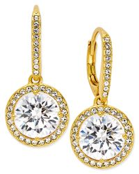 Danori   Metallic 18k Gold-plated Crystal Drop Earrings, Only At Macy's   Lyst