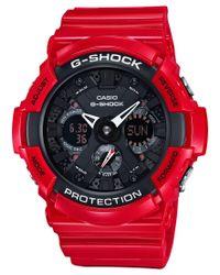 G-Shock - Black Men's Analog-digital Red Resin Bracelet Watch 51mm Ga201rd-4a for Men - Lyst