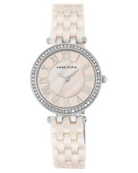 Anne Klein | Metallic Women's Light Pink Ceramic Bracelet Watch 30mm Ak/2201lpsv | Lyst