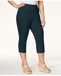 Style & Co. | Blue Plus Size Capri Pants, Only At Macy's | Lyst