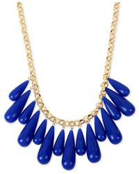 INC International Concepts | Blue M. Haskell For Inc Gold-tone Multi-stone Statement Necklace, Only At Macy's | Lyst