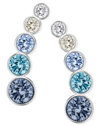 Swarovski - Metallic Multi-crystal Ear Climber Earrings - Lyst