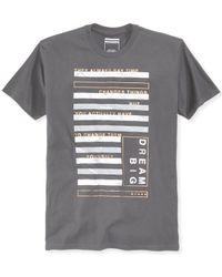 Sean John | Black Men's Marble Bars Graphic-print T-shirt, Only At Macy's for Men | Lyst