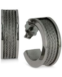 Charriol | Metallic Women's Forever Stainless Steel Cable Hoop Earrings 03-01-1139-0 | Lyst