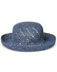 Lauren by Ralph Lauren - Blue Sunwashed Cloche - Lyst