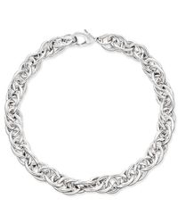 Charter Club   Metallic Erwin Pearl Atelier For Silver-tone Chain Link Collar Necklace, Only At Macy's   Lyst