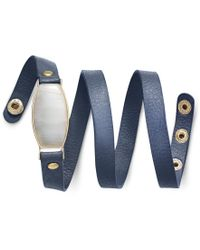 INC International Concepts | Blue Gold-tone White Resin Stone And Navy Faux Suede Wrap Bracelet, Only At Macy's | Lyst