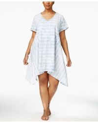 Nanette Lepore - Blue Nanette By Plus Size Tie-dyed Trapeze Dress, Only At Macy's - Lyst