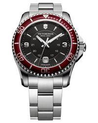 Victorinox   Metallic Men's Swiss Maverick Stainless Steel Bracelet Watch 43mm 249108 for Men   Lyst