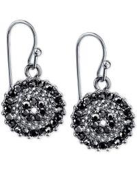 2028 | Metallic Silver-tone Dark Crystal Drop Earrings, A Macy's Exclusive Style | Lyst