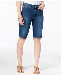 NYDJ | White Christy Denim Bermuda Shorts | Lyst