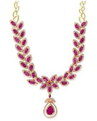 Effy Collection | Pink Effy Ruby (14-1/10 Ct. T.w.) And Diamond (2-3/4 Ct. T.w.) Fancy Collar Necklace In 14k Gold | Lyst